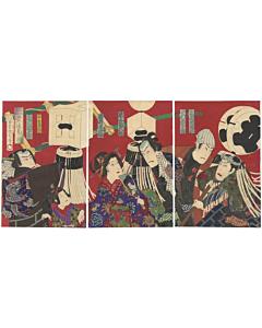 kunichika toyohara, japanese firemen, hanten, matoi