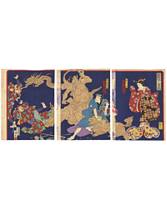 Kunisada III Utagawa, Hidari JIngoro, Kabuki Play