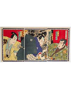 Kunichika Toyohara, Kanadehon Chushingura, Kabuki Theatre Play