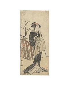katsukawa shunsho, Kabuki Actor in the Role of an Onnagata