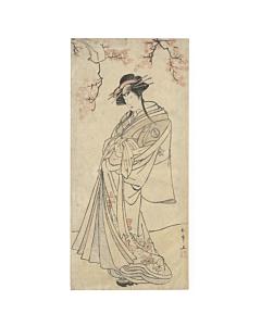 shunsho katsukawa, kabuki actor, onnagata