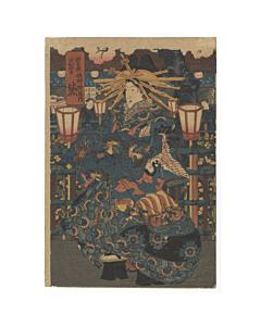 courtesan, kimono design, beauty print