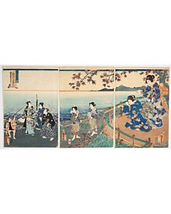 kunisada II utagawa, tale of genji