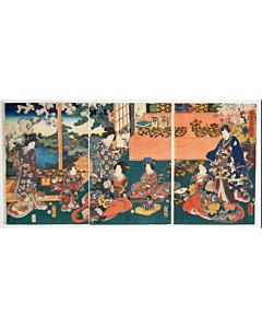 toyokuni III utagawa, tale of genji, kimono
