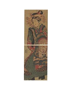 Yoshitora Utagawa, High-rank Courtesan, Kimono Design