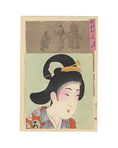 Chikanobu Yoshu, Portrait of a Young Woman around Kyoho Era