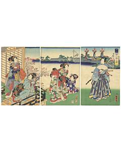 kunisada II utagawa, edo period, kimono design, japanese culture, japanese design