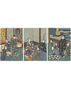 kuniyoshi utagawa, kabuki theatre, kabuki actors, danjuro, edo period