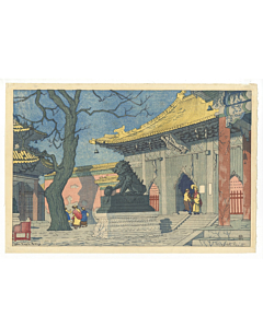 elizabeth keith, lama temple, peking, japanese woodblock print, japanese antique, travel