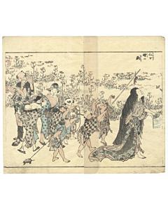hokusai katsushika, manga, madwoman, japanese woodblock print, japanese antique