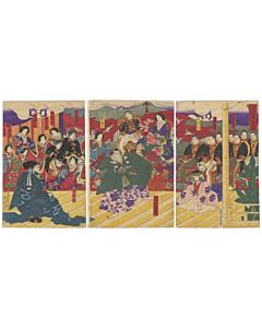 chikanobu yoshu, maeda clan, rich family, meiji emperor