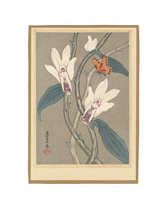 Mokuchu Urushibara, orchid, flower print