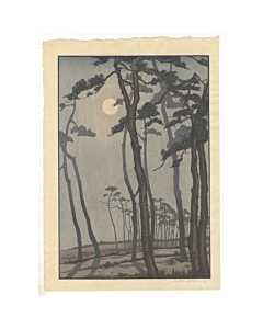 mokuchu urushibara, bournemouth, moonlight, nature