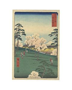 Hiroshige I Utagawa,  Toto Asukayama, Thirty-six Views of Mount Fuji