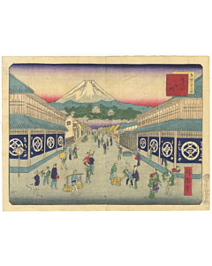 shosai ikkei, mount fuji japan, tokyo, landscape, famous view, old town, shops, travel