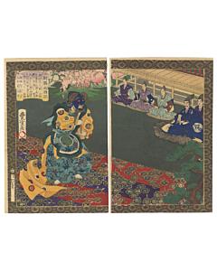toyonobu utagawa, warrior, samurai, toyotomi hideyoshi, gagaku, court music, classical music