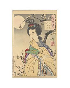 yoshitoshi tsukioka, spirit of the plum tree, one hundred aspects of the moon
