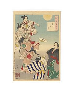 yoshitoshi tsukioka, bon festival, one hundred aspects of the moon