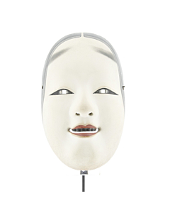 Ko'omote, Noh Theatre Mask, Hand-carved