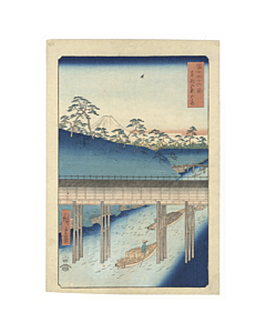 Hiroshige I Ando, ochanomizu, thirty-six views of mount fuji, landscape, japanese woodblock print, japanese antique