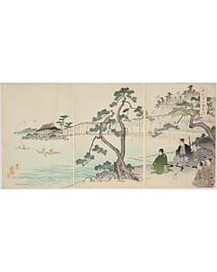 Chikanobu Yoshu, Fishing, The Outer Palace of Chiyoda