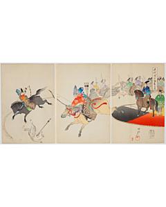 chikanobu yoshu, hunting, chiyoda outer palace