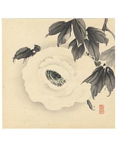 chikuseki yamamoto, peony flower, decorative art