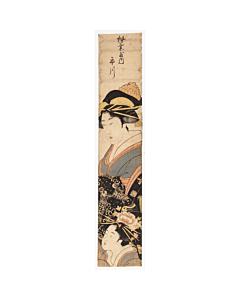 Courtesan Ichikawa from Matsuba-ya Tea House, Hashira-e