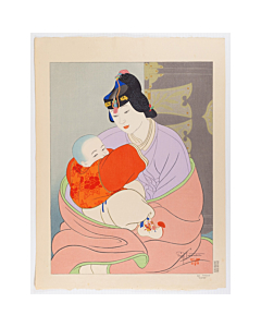 paul jacoulet, le tresor, mother and child, korea, french artist