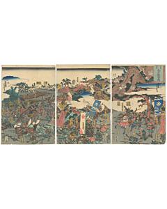 yoshitora utagawa, battle of taiheiki, japanese history, japanese warrior, samurai, edo