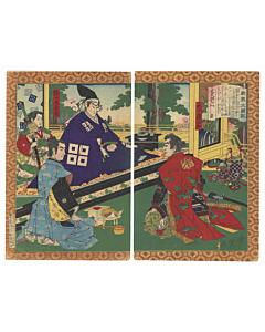toyonobu utagawa, hideyoshi, warrior print, samurai, musha-e, japanese history