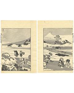 hokusai katsushika, mount fuji, landscape