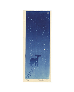 Paul Binnie, Deer in the Snow, Winter, Contemporary