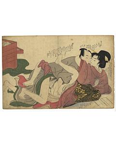 shunga, erotica, spring pictures, utamaro school