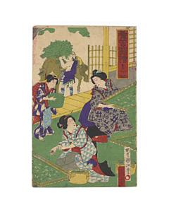kunimasa baido, making silk, kimono, fabric, beauty