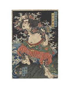 suikoden, water margin, tattoo design, irezumi, peony, japanese artist, tattoo inspiration