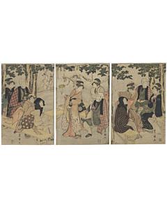 toyokuni I utagawa, foxes, inari shrine