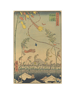 Hiroshige I Utagawa, Tanabata Festival, One Hundred Famous Views of Edo