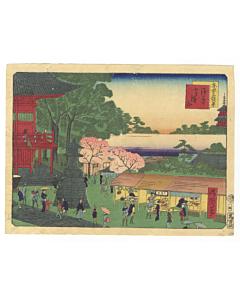 shosai ikkei, asakusa kinryuzan, temple, views of tokyo, landscape