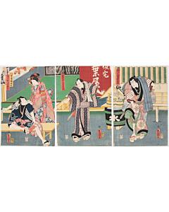 Toyokuni III Utagawa, Yaoya Oshichi, Kabuki Theatre