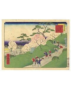 shosai ikkei, hikurashi village, famousviews of tokyo, landscape