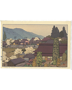 Toshi Yoshida, Village of Plums, Modern Landscape