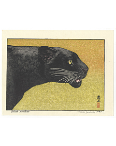 toshi yoshida, black panther, animal print