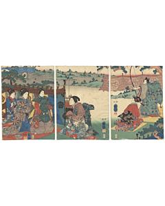 Kuniyoshi Utagawa, The Tale of Genji, Archery Practice