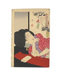 Yoshitoshi Tsukioka, Looking Drowsy, Thirty-Two Aspects of Customs and Manners
