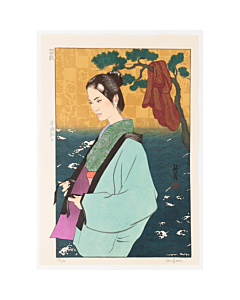 Paul Binnie, Hagoromo, Feathered Robe, Angel, Buddhism, Contemporary, Beauty, Original Japanese woodblock print