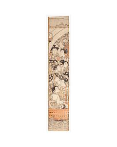 Koryusai Isoda, Hashira-e, jaoanese music, japanese woodblock print, sakura