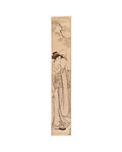 Kiyonaga Torii, Hashira-e, Beauty by the River, kimono, japanese woodblock print, antique