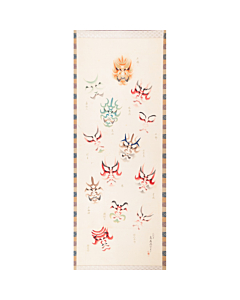 Torii Kotondo, Kumadori, Kabuki Make-up, Hanging Scroll, Japanese antique, japanese art
