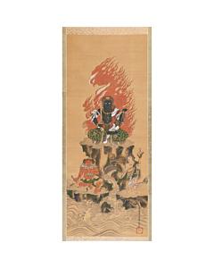Hogan Fujiwara, Hanging Scroll, Japanese antique, japanese art, buddhism